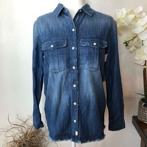 Melrose & Market Pearl Snap Button Denim Shirt